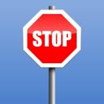 Un panneau stop